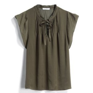 Tops - NWT Olive Green Blouse